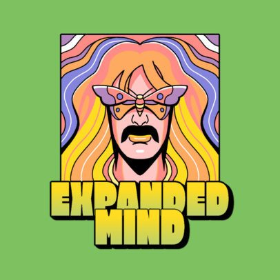 Logo Maker Featuring Psychedelic Illustrations of 70's Music 3655