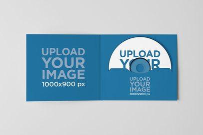 Mockup of a Digipack with a CD Inside 4944-el1