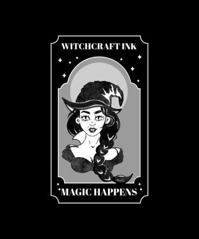 T-Shirt Design Templates with a Witchcraft Theme 2856-el1