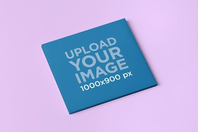 Simple Mockup of a Digipack on a Solid Color Surface 4933-el1