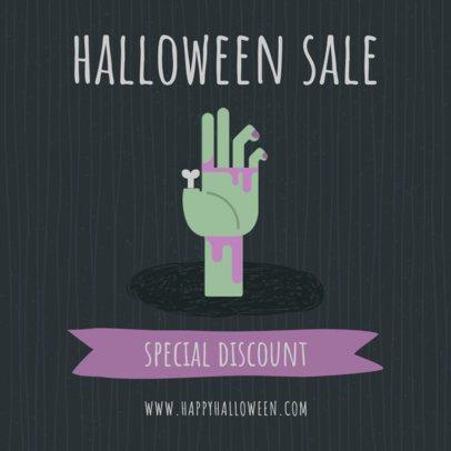 Instagram Post Template for Halloween Sales 2888-el1