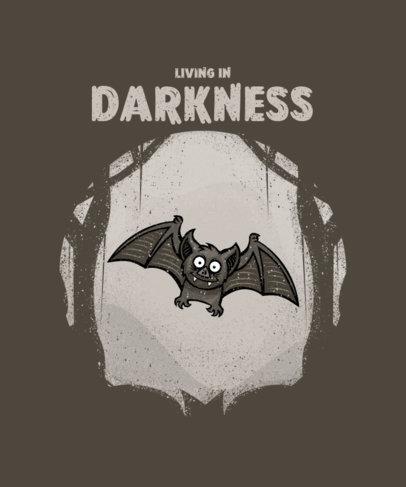 Halloween T-Shirt Design Maker Featuring a Cute Bat Illustration 2858e-el1