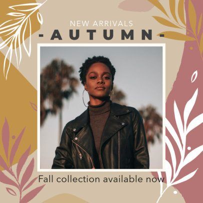 Instagram Post Template with a Fall Design for a Store's Autumn Sale 2947c