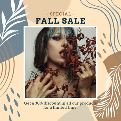 Instagram Post Maker for a Special Autumn Sale 2947a