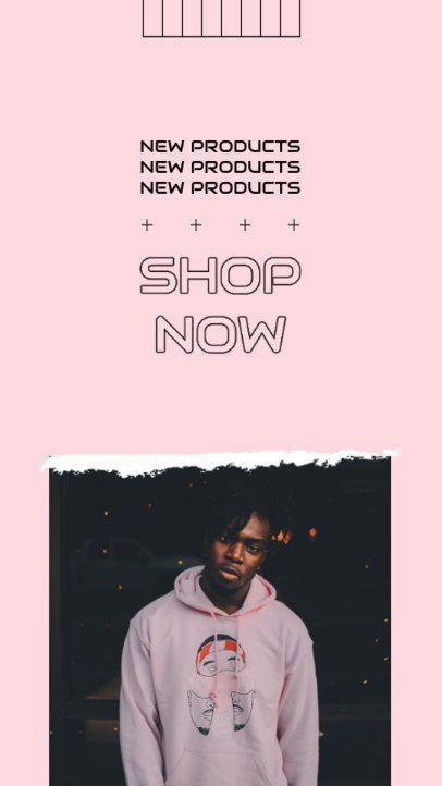 Instagram Story Design Template for a Hip Hop Music Merch Store 2866d-el1