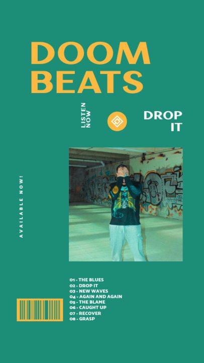 Simple Instagram Story Design Template Featuring a Hip-hop Music Playlist 2847e-el1