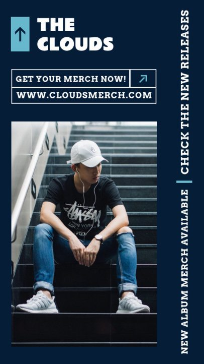 Instagram Story Generator with a Minimalist Style for a Hip-Hop Singer's Merch 2879e-el1