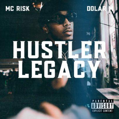 Album Cover Template for a Hip-Hop MC's New Mixtape 2933e