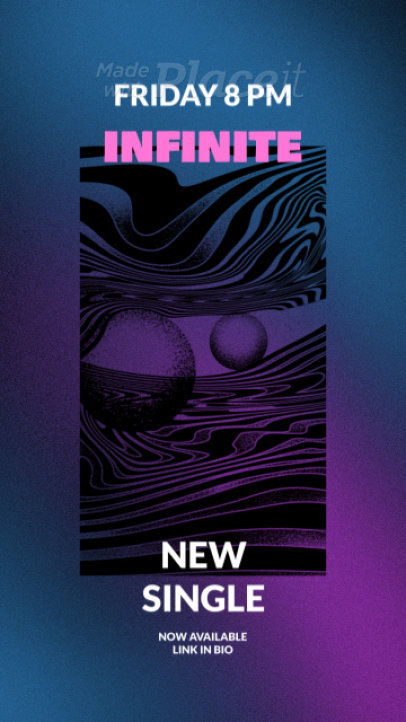 Instagram Story Video Maker for a Psychedelic Rock Band's New Single Announcement 2213