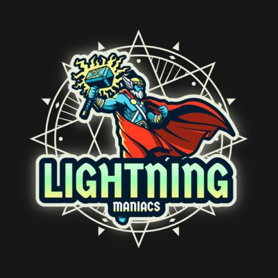 Logo Maker for a Gaming Channel with an Ancient Nordic God 3650c
