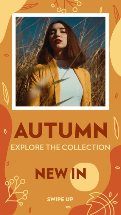 Instagram Story Design Maker for a New Autumn Collection Announcement 2945d