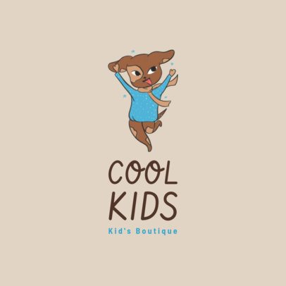 Logo Creator for a Kids Apparel Brand with a Friendly Cartoon 3660a