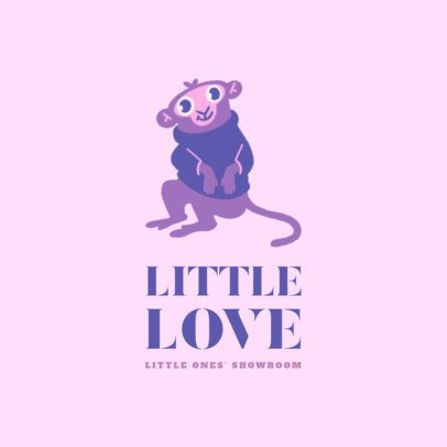 Logo Maker for a Kids' Clothing Brand with a Monkey Graphic 3660h