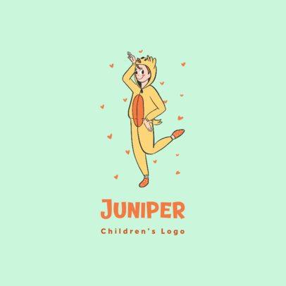 Kids Apparel Logo Maker with a Cartoon in Pajamas 3660d
