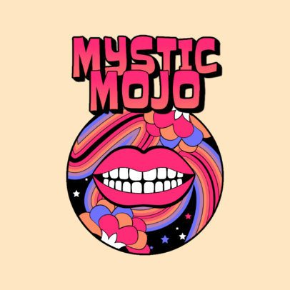 Disco Music Logo Maker Featuring a Psychedelic Graphic 3655f