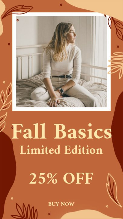 Fall-Themed Instagram Story Maker for Clothing Deals 2845b
