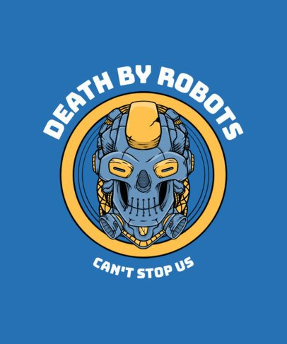 T-Shirt Design Maker Featuring a Robotic Skull 2826d-el1