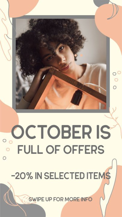 Instagram Story Template for a Special Fall Offer Announcement 2845a