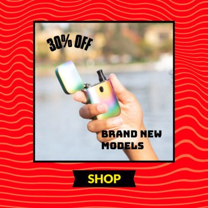 Ad Banner Design Template for a Dropshipping Offer of Lighters 2937f