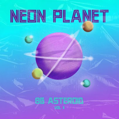 Rock Album Cover Maker Featuring an Airbrushed Planet Illustration 2943c