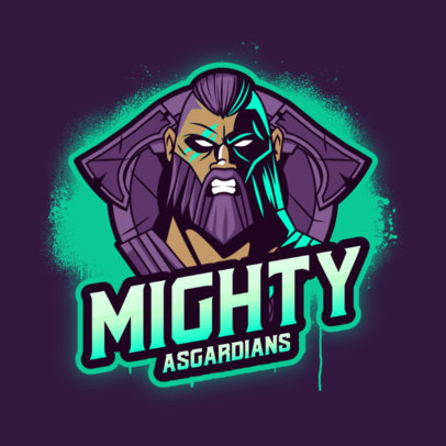 Gaming Logo Creator Featuring a Mighty Nordic God Illustration 3650g