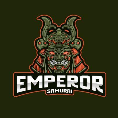 Gaming Logo Template Featuring an Evil Samurai Graphic 2930c-el1