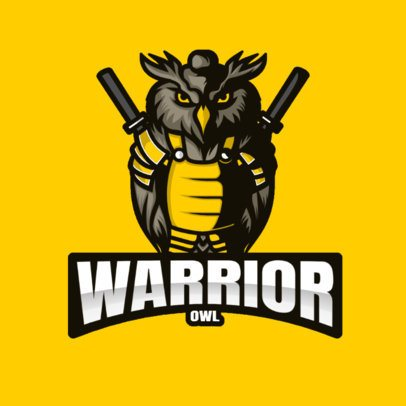 Gaming Logo Creator with an Illustration of an Owl Warrior 2930f-el1