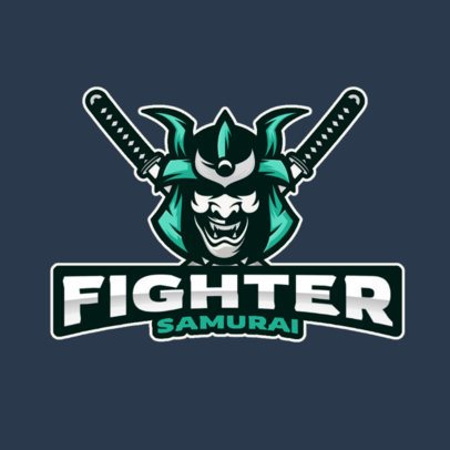 Logo Maker for a Gaming Squad Inspired by the Ancient Samurai 2930i-el1