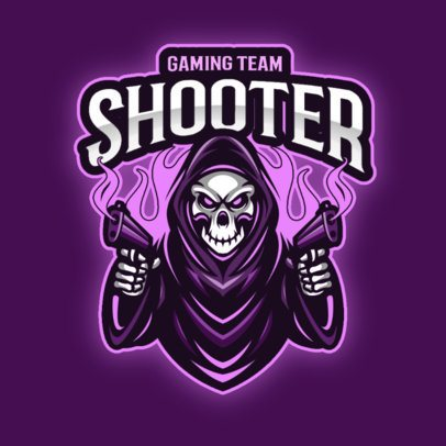 Gaming Team Logo Creator with a Shooting Reaper Graphic 2943b-el1