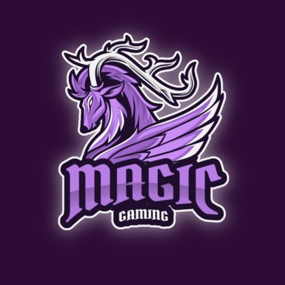 Gaming Logo Creator Featuring a Magical Animal Graphic 2945a-el1