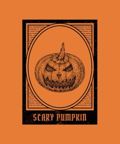 T-Shirt Design Maker Featuring Vintage-Looking Halloween Illustrations 2923-el1