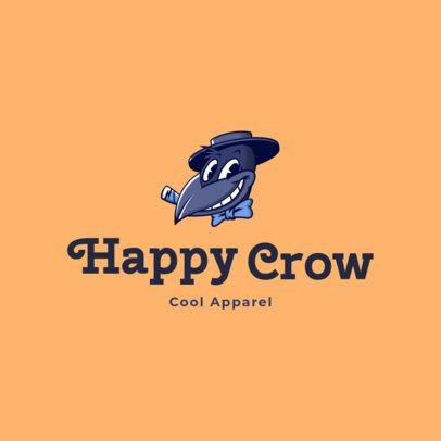 Free Clothing Brand Logo Generator Featuring a Crow Cartoon 3695m