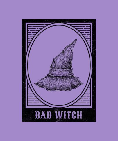 T-Shirt Design Creator with a Witch Hat Graphic 2923a-el1