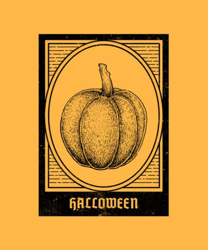 Halloween T-Shirt Design Generator Featuring a Vintage Pumpkin 2923c-el1