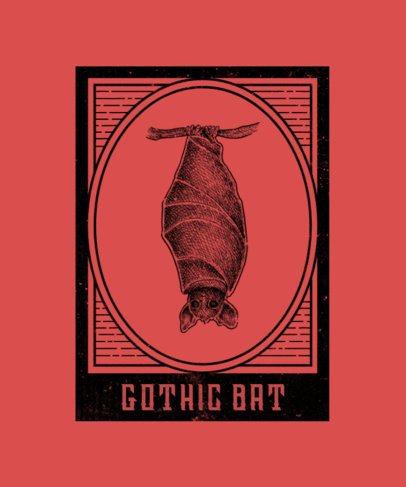 T-Shirt Design Creator Featuring a Mysterious Bat Illustration 2923d-el1
