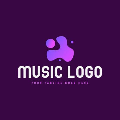 Free Music Logo Maker Featuring an Abstract Stain-Like Clipart 3694e