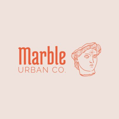 Free Logo Template for Fashion Brands Featuring a Marble Sculpture Graphic 3695q