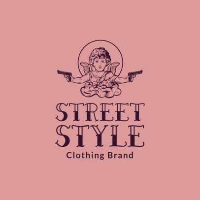 Free Logo Maker for an Urban Apparel Brand Featuring a Gangster Angel Graphic 3695u