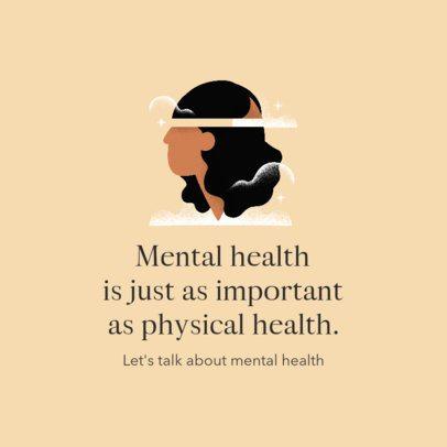 Instagram Post Maker for Mental Health Struggle Advice 2961c