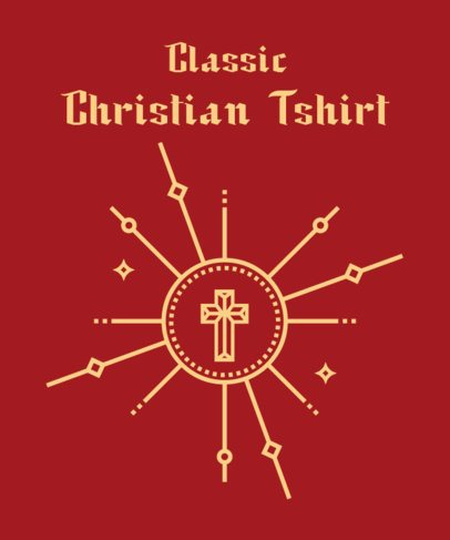 Christianity T-Shirt Design Generator with a Simple Graphic 2963d