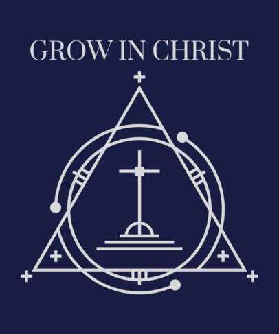 Minimalist T-Shirt Design Template with a Christianity Cross Graphic 2963i