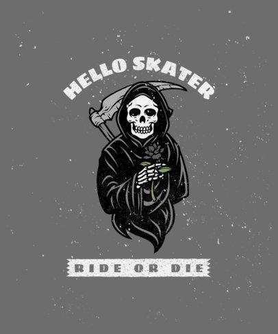 T-Shirt Design Template with a Sarcastic Reaper Graphic 2934f-el1