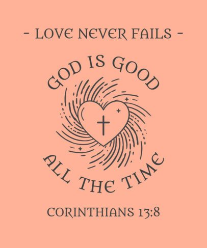 T-Shirt Design Creator Featuring a Christian Heart Graphic 2964i