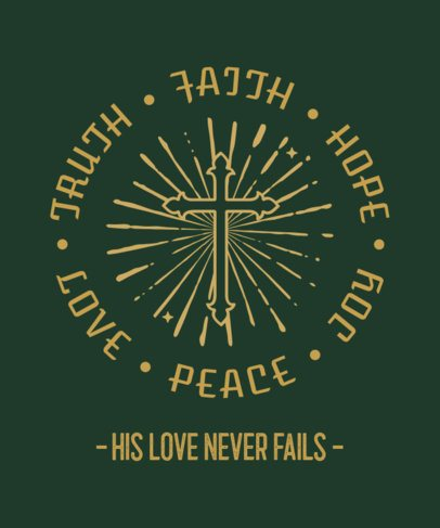 Christian T-Shirt Design Maker Featuring a Cross Graphic and a Quote 2964e