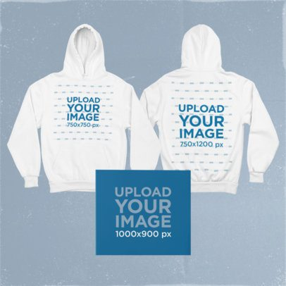 Merch Bundle Mockup Featuring Both Sides of a Hoodie and a Closed Digipak 43435-r-el2