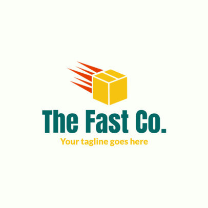 Shipping Services Free Logo Maker Featuring a Box Icon 3696o