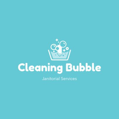 Free Logo Template for a Cleaning Services Company Featuring a Minimal Layout 3696f