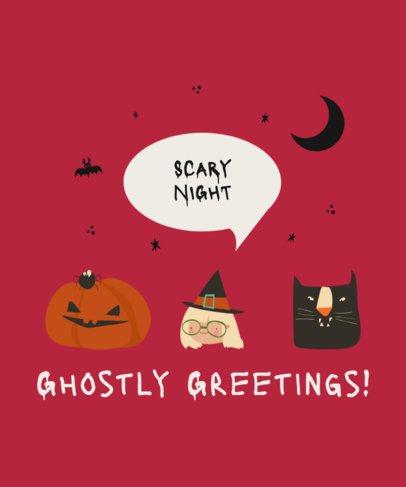 T-Shirt Design Maker for Children with Halloween Cartoons 2925c-el1