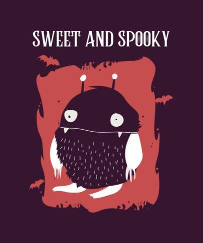 Kids T-Shirt Design Template with a Halloween Theme 2926b-el1