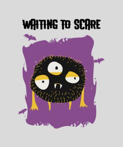 Halloween-Themed T-Shirt Design Maker Featuring a Cute Little Monster 2926c-el1
